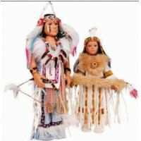 Buy cheap New Vintage Collection Native Porcelain Indian Girls' Toy Dolls from wholesalers