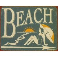 Buy cheap Beach Style Vintage Metal House Number Plaque , Portable Metal Tin Signs from wholesalers