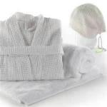 Buy cheap Skin - friendly luxury 100%cotton luxury hotel bathrobes / velour kimono style bathrobe / kimono style bathrobes from wholesalers