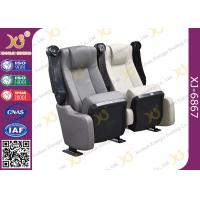 Buy cheap Sound Absorbing Indoor Novel Design Grey Cinema Theater Chairs With PU Molded Foam from wholesalers