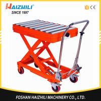 Buy cheap 350kg 1300mm Hydraulic Manual Roller Top Scissor Lift Table Made In China from wholesalers