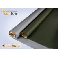 Buy cheap Fire Resistant Fabrics Silicone Coated Fiberglass Fabric For Fabric Ductwork Connector from wholesalers