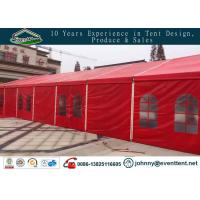 Buy cheap Red color 10x40m aluminum frame pitch roof wedding party tent from wholesalers
