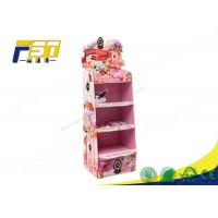 Buy cheap Children Toy Cardboard Floor Displays Racks Customized Size Promotion Usage from wholesalers