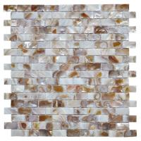 Buy cheap Morden Luxury Mother Of Pearl Wall Tile , 3d Brick Custom Mosaic Tile from wholesalers
