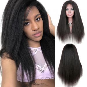China Yaki Kinky Straight Full Lace Wigs Human Hair No Chemical No Tangle on sale