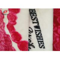 Buy cheap Printed Double Brushed Flannel Velour Fabric Polyester Velvet For Wedding Blanket from wholesalers