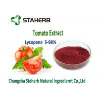 Buy cheap Dark Red Powder Natural Tomato Extract 5%-98% Lycopene Water Soluble Anti - Aging from wholesalers