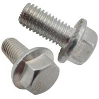 Buy cheap DIN6921 Gr8.8 hexagon flange head bolts for Machine  White Zinc from wholesalers