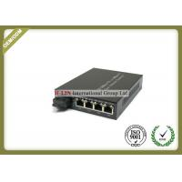Buy cheap 10/100M Single Fiber Optical Media Converter With 1 SC Fiber Port And 4 RJ-45 Ports from wholesalers