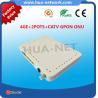 Buy cheap Plastic white box 4GE+2POTS+CATV GPON ONU HGU TYPE FTTH ONU/Fiber optic ONU from wholesalers