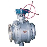 Buy cheap 3 Piece Full Port Flanged Ball Valve , A216 WCB Gear Box Trunnion Mounted Ball Valve from wholesalers
