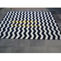 Buy cheap blue white colors stripes modern area rugs / carpet&rugs from wholesalers