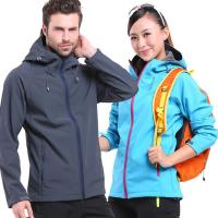 Buy cheap Sports Male Soft Shell Jacket Water Resistant Comfortable Regular Fit Anti Scratch from wholesalers