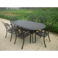 Buy cheap Outdoor Table and Chair/Metal Garden Chairs Wrought Iron Garden / Backyard Bench from wholesalers