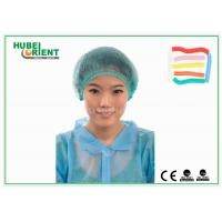 Buy cheap Soft Nonwoven Disposable Head Cap / Disposable Mob Cap for Food Processing Industry from wholesalers