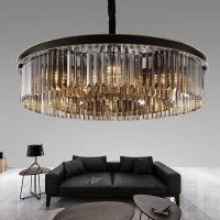 Buy cheap Semi flush Crystal ceiling Pendant Light Fixtures Amber Color For Home Decoration (WH-CA-21) from wholesalers