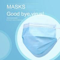 Buy cheap Safe Breathable Non Woven Fabric Face Mask Anti Virus 3 Ply Protective Civil Use from wholesalers