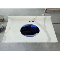 Buy cheap Calacatta Quartz Stone Prefab Bathroom Vanity Tops For Home Building from wholesalers