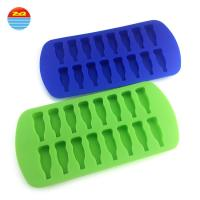 China Cola Bottle Silicone Rubber Ice Cube Tray , Small Tiny Cylinder Silicone Freezie Molds on sale