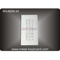 24 keys Rugged Industrial Metal Keyboard with Top Panel Mounting