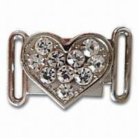 Buy cheap Clothing Accessory, Made of Chinese Artificial Diamond and Zinc Alloy product