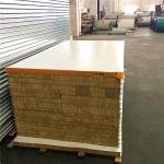 Buy cheap 0.326mm steel sheet fireproof rock wool sandwich panel 5950 x 1150 x 50mm from wholesalers