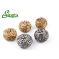 Buy cheap Spiral Brass Scouring Pads / Metal Scouring Ball Soft Hand Feeling Customized Gram from wholesalers