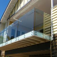 Buy cheap Toughened laminated glass balustrade with stainless steel standoff design from wholesalers