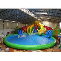 Buy cheap Dinosaur Amusement Park Slide Amazing Inflatable Water Park With Swimming Pool from wholesalers
