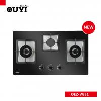 Buy cheap 3 saba burners built-in AC power glass cooktop copper gas cooker from wholesalers
