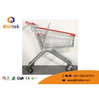 Buy cheap Zinc Plated Four Wheel Shopping Trolley Large Dimension Shopping Cart Trolley from wholesalers