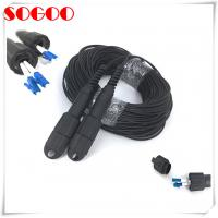 Buy cheap Armored Waterproof Fiber Optic Cable Duplex LC OM3 OM4 LC / UPC For Outdoor from wholesalers