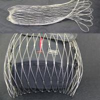 Buy cheap Black And Silver Stainless Steel Mesh Bag With Multiple Rope Construction from wholesalers