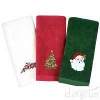 Buy cheap Christmas Hand Towels 100%  Cotton Bathroom Kitchen Towels for Drying Cleaning Cooking from wholesalers