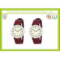 Buy cheap Water Resistant Ergonomic Unisex Wrist Watch Brown 20 - 24mm With Smail Dial / Alloy Case from wholesalers