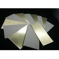 Buy cheap Environment Grade A Laminated Paperboard Gold Paper Grey Back For Cake Bakery from wholesalers