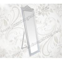 Buy cheap wood framed dressing mirror floor free standing baroque mirror from wholesalers