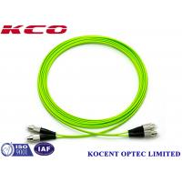 Buy cheap FC-FC OM5 Optical Fiber Patch Cable Jumper Cord 100G Multimode 50/125 Lime Green PVC from wholesalers
