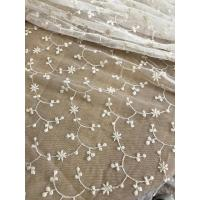 Buy cheap Ivory Vintage Floral Nylon Lace Fabric By The Yard For Wedding Dresses 120cm Width product