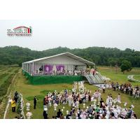 Buy cheap 1000 People Capacity Luxury Wedding Party Tents With Glass Walls & ABS Walls from wholesalers