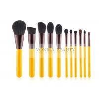 Buy cheap Yellow Handle Stylish Makeup Brush Collection Kit For Basic Daily Application from wholesalers