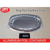 Buy cheap Oval Disposable Turkey Roasting Trays , Tin Foil Baking Pans 2300ml Volume from wholesalers