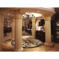 Buy cheap Apricot Color Classic Roman Column Bamboo Fiber Indoor Decorative Columns from wholesalers