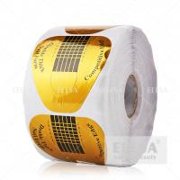 Buy cheap High Sticky Acrylic Nail Forms 500 Pieces Per Roll Extension Shaping product