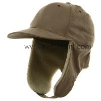 Buy cheap 100% cotton baseball style 6 panel hat with polar fleece earflap winter fashion unisex winter hat from wholesalers