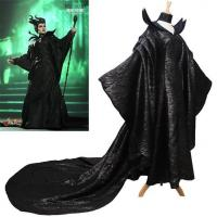 Buy cheap Princess Dress Wholesale Polyester Black Women Costumes of Maleficent Angelina Jolie Dark Witch Queen Dress from wholesalers