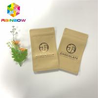 Buy cheap UV Printing Three Side Sealed Zipper Craft Paper Bags For Chocolate Bar Packing from wholesalers