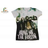 Buy cheap Various Color Combed Cotton T Shirts , Customized Tee Shirts Screen Printing from wholesalers