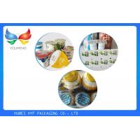 China Unprinted / Printed Aluminum Foil Lids , Fashion PP Cup Lid For Ice Cream on sale